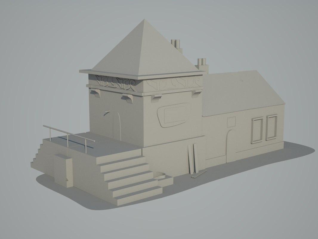 free old 1890 s house 3d model rh turbosquid com 1890 house construction 1890s house