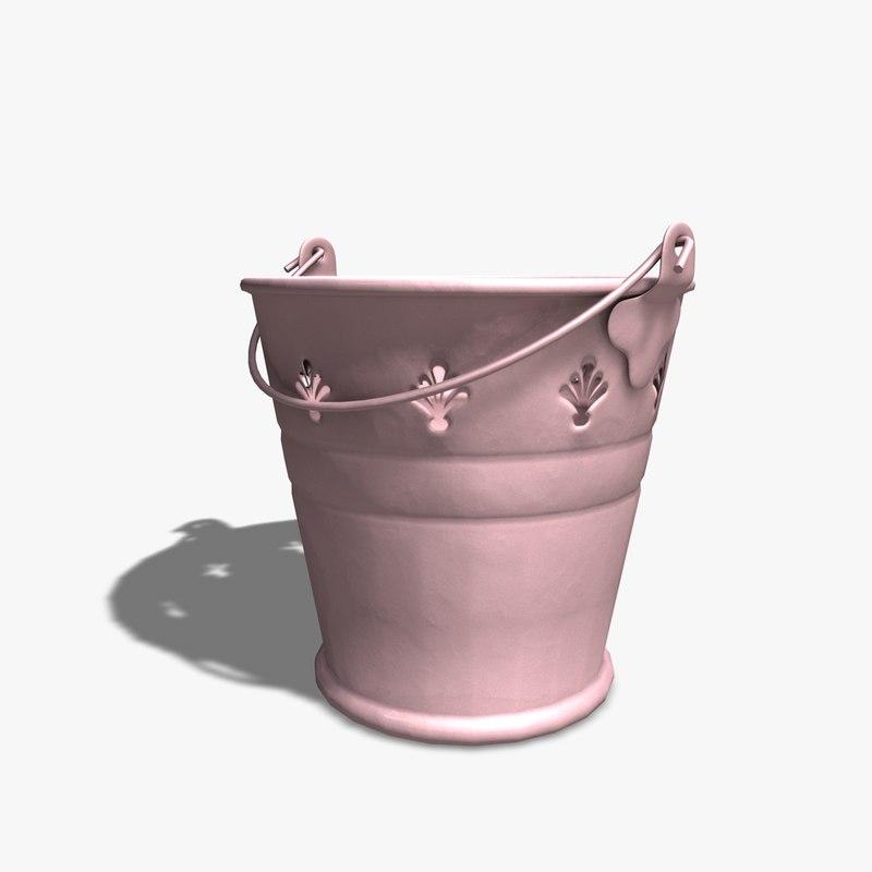 3d 3ds decorative bucket