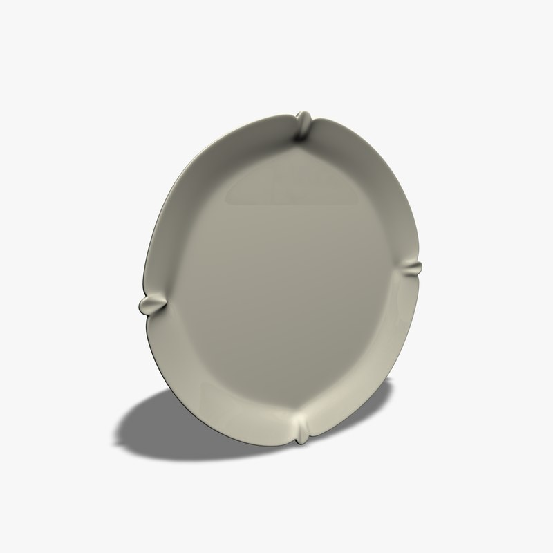 simple plate 3d 3ds
