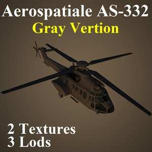 3d aerospatiale rnl helicopter
