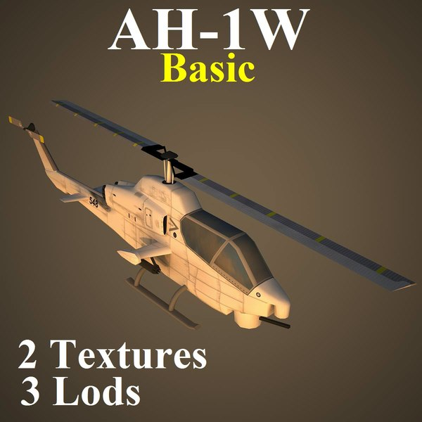 ah-1w basic attack helicopter max