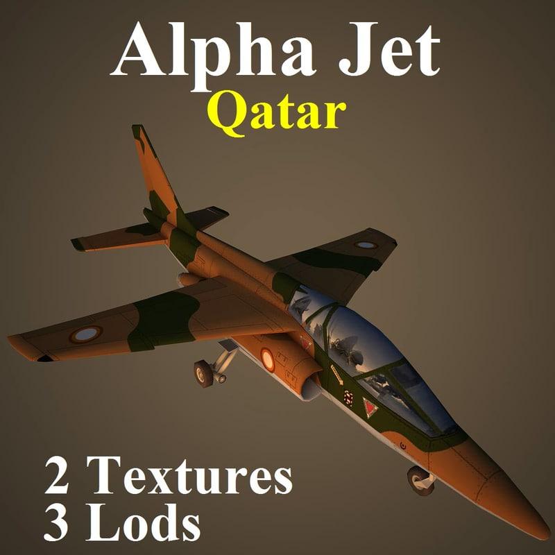 alpha jet qat aircraft 3d max