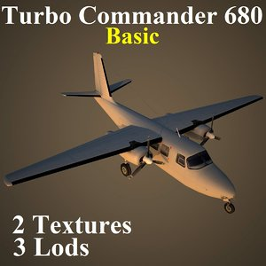 3d max turbo commander basic aircraft
