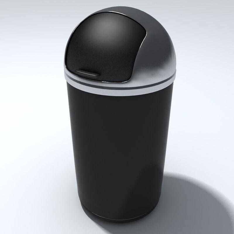 3d obj kitchen rubbish bin