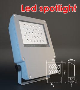 free obj model spot led spotlight