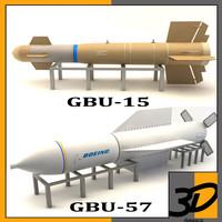3d 3ds gbu-57 bomb