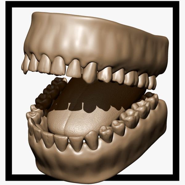 sculpt teeth 3d max