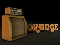 3d orange amp
