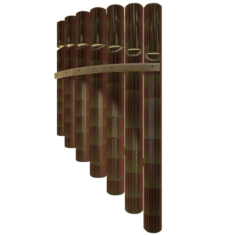 bamboo flute 3d 3ds