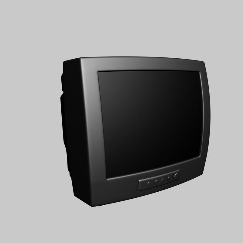 3d old television model