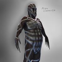 Big Alien Character