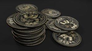 septim coins 3d model