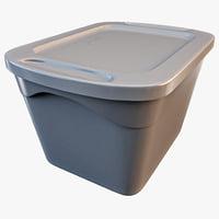 3d model storage box 18-gallon