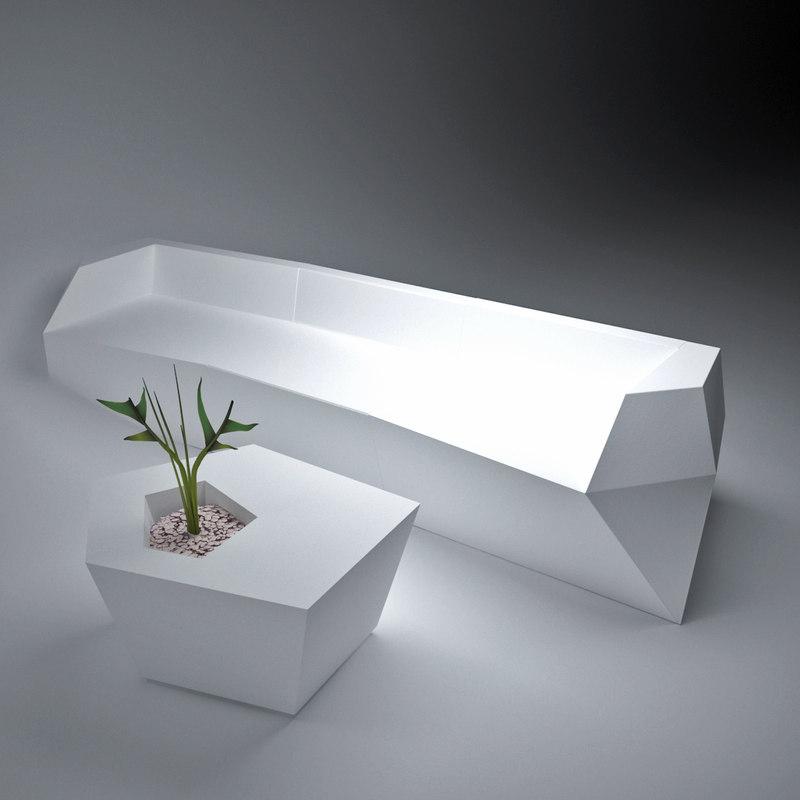 modular sofa 3d ma