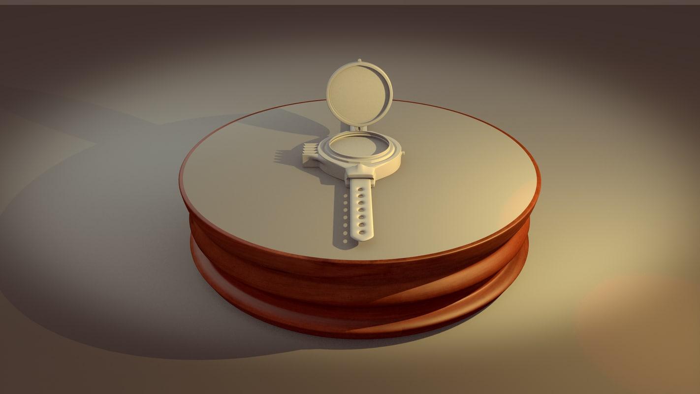 3d simple watch model