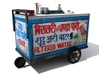3d model indian water thela