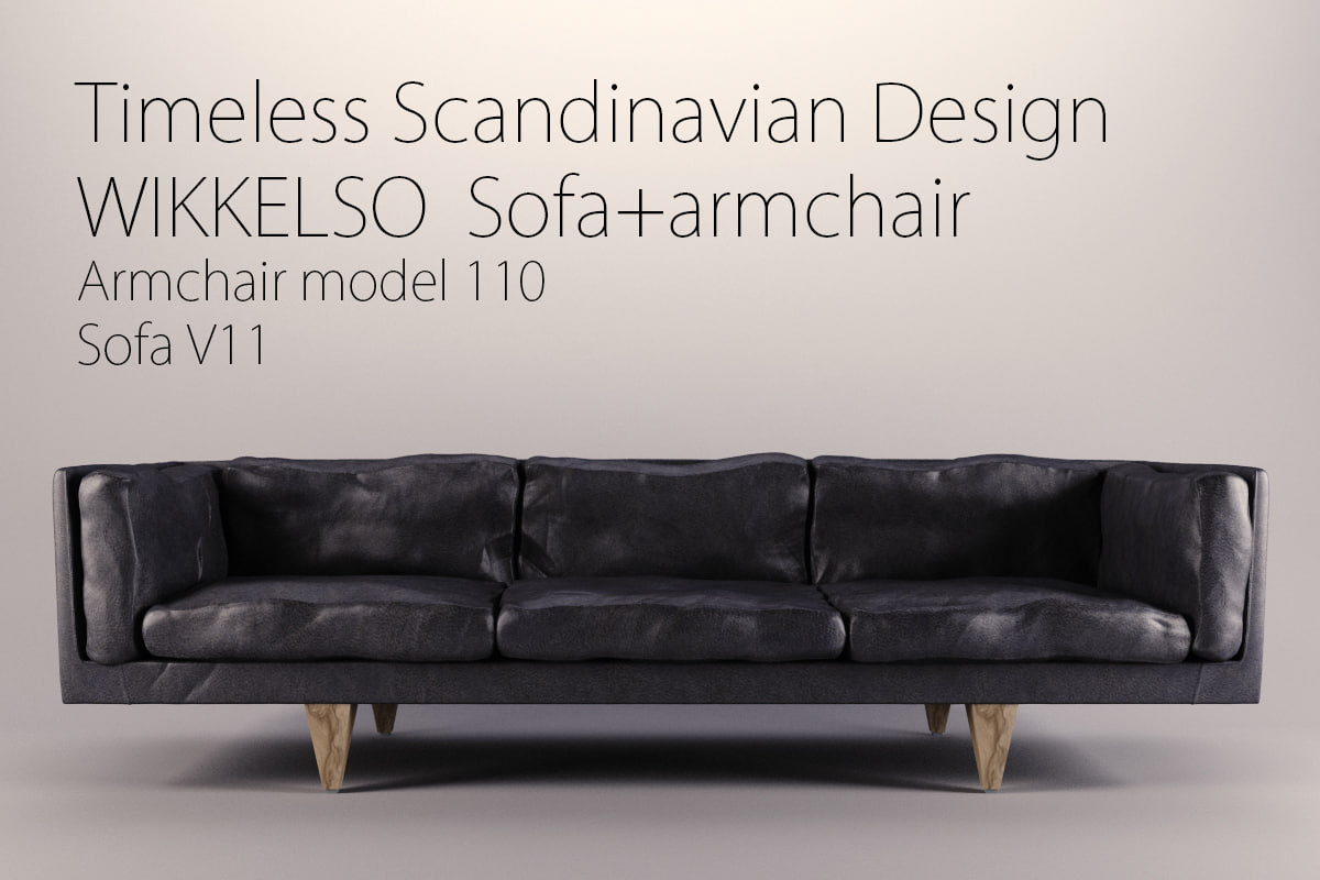wikkelso sofa v11 armchair 3d model