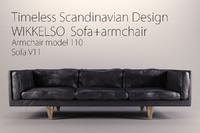 Wikkelso Sofa(v11) and Armchair(model110)