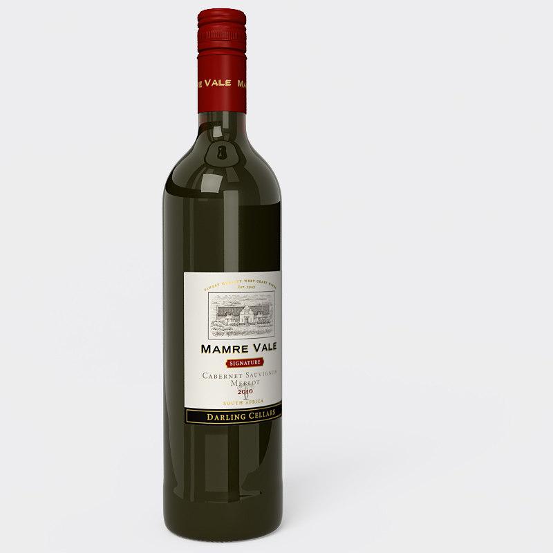 lightwave red wine bottle