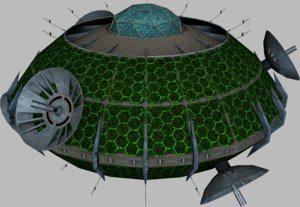 communication satellite 3d model