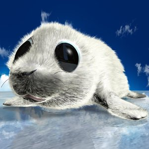 3ds max cute baby seal rigged