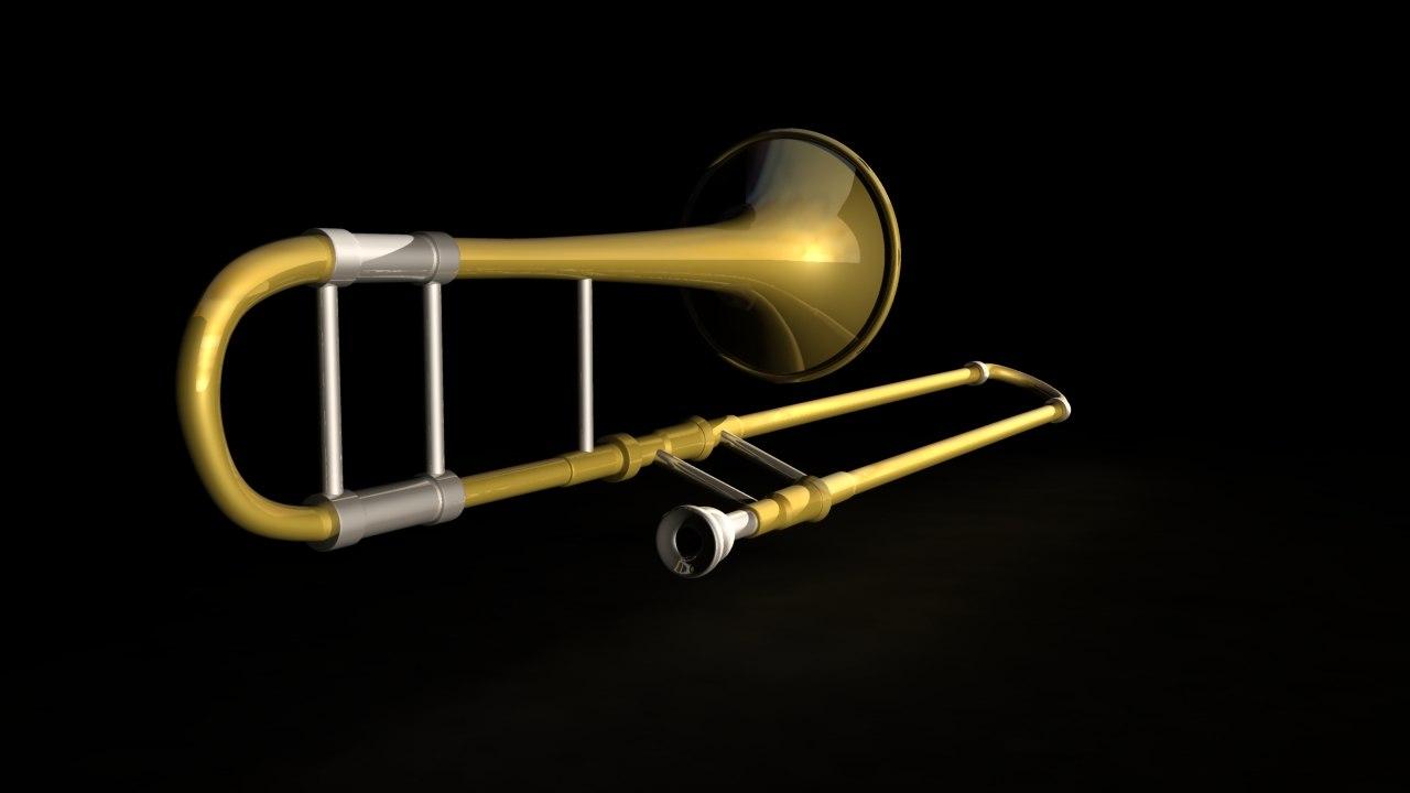 trombone brass instruments obj