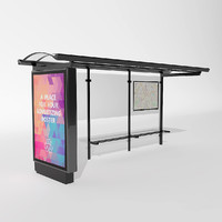bus stop moscow 3d model