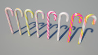 3d model candy canes
