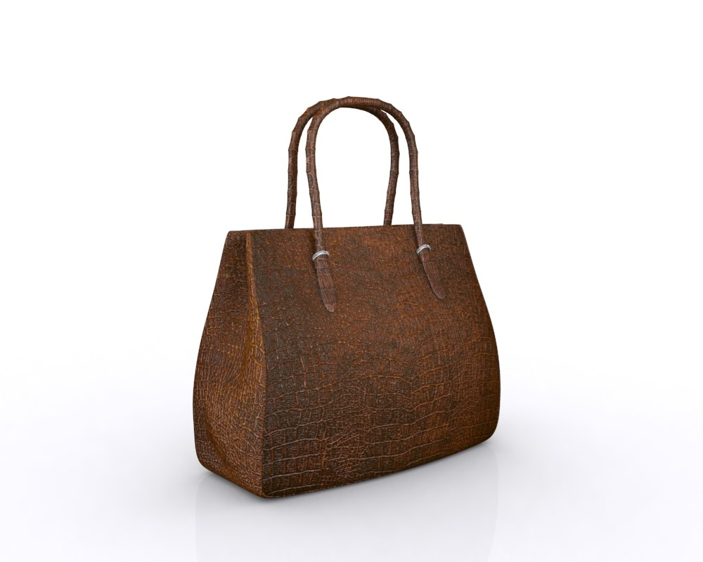handbag bag leather 3d max