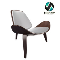 3d 3ds modern shell chair carl