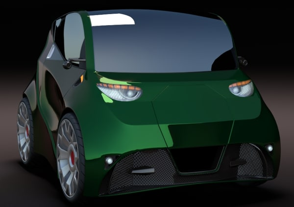electric concept car 3d model