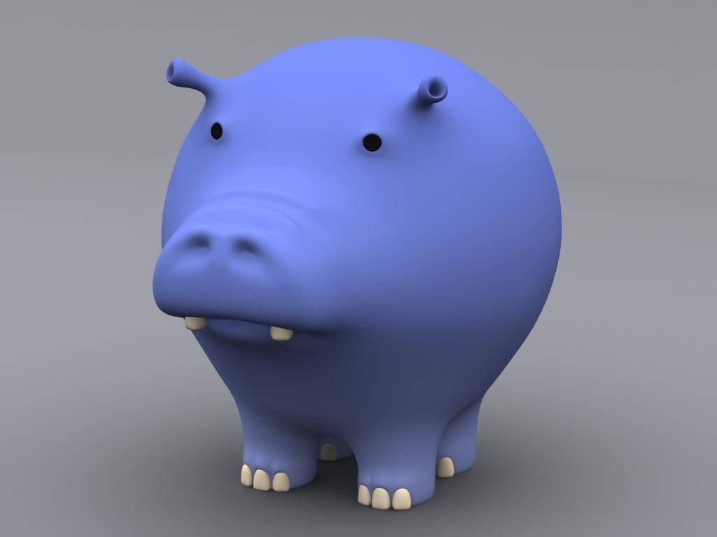 max cartoon hippopotamus