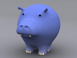 max cartoon hippopotamus