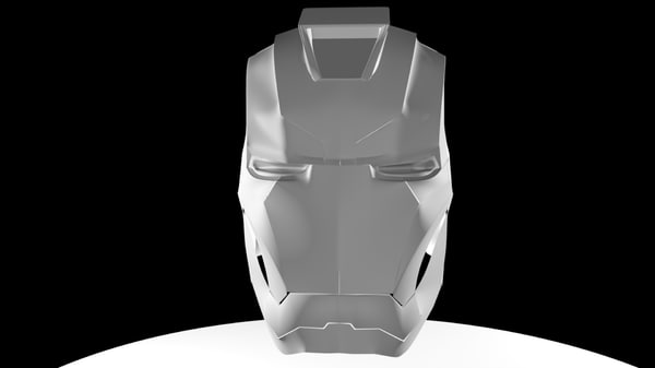 iron man helmet 3d model
