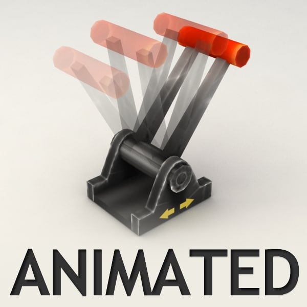lever animation 3d 3ds