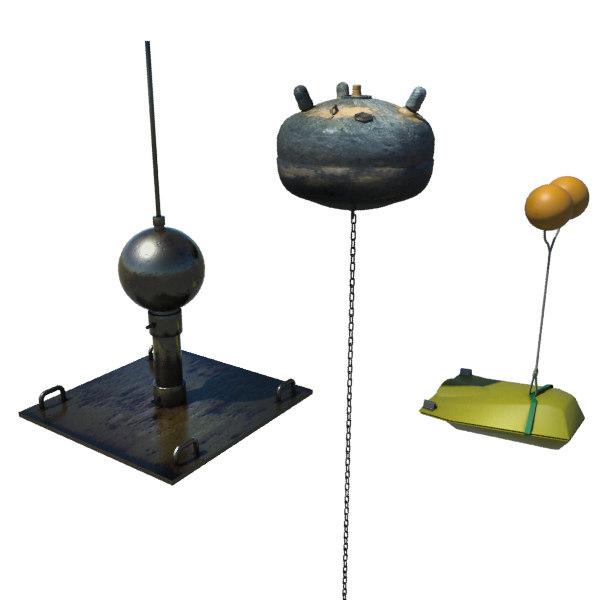 3d model mines - bombs