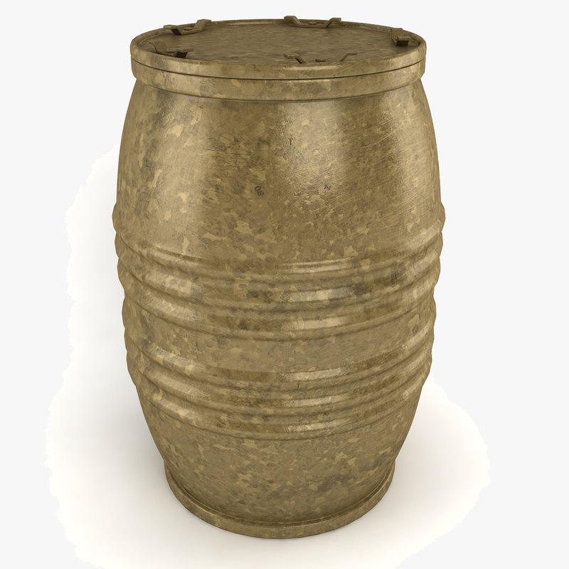 barrel lid old 3d model