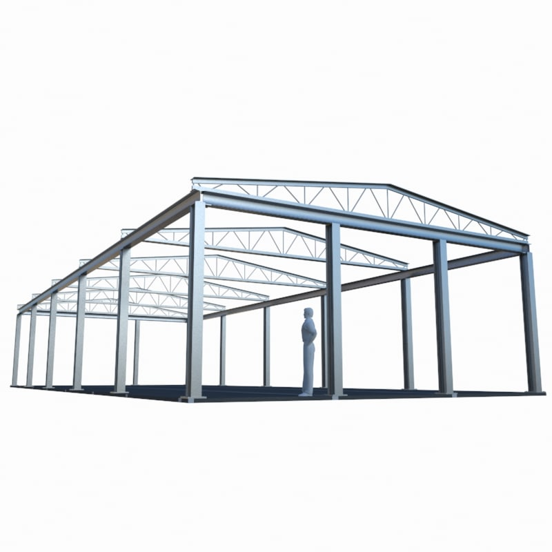 Steel Frame Work : Industrial building steel d model