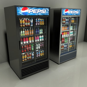 3d airscreen refrigerator drinks model