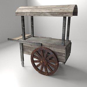 old food cart 3d 3ds
