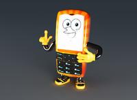 3d phone mascott