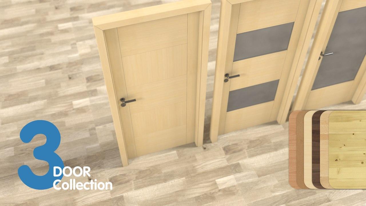 door set 3 pieces 3d model