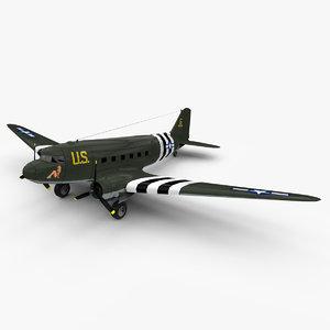 3d max douglas transport aircraft