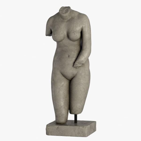3d model aphrodite torso