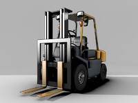 3d model forklift industry