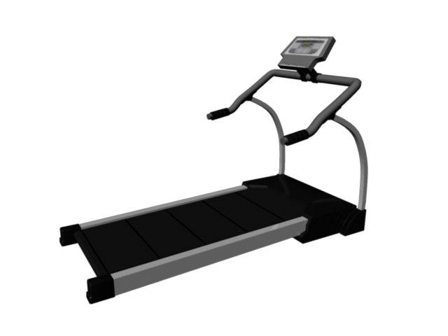 free treadmill 3d model