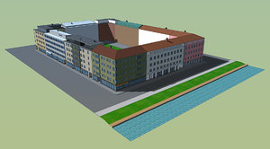 buildings blocks 3d model