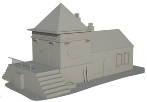 free old 1890 s house 3d model
