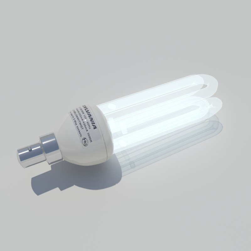 fluorescent light bulb 3d max
