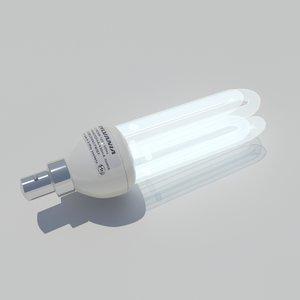 fluorescent light bulb 3d max